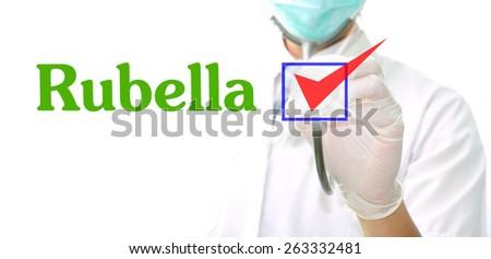 Rubella - stock photo