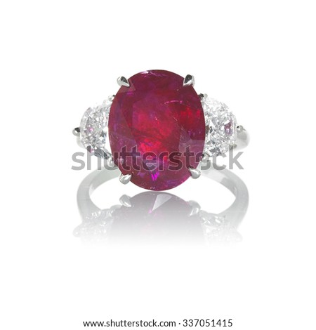 Ruby and Diamond Ring  - stock photo
