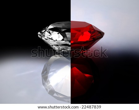 Ruby - red crystal - stock photo