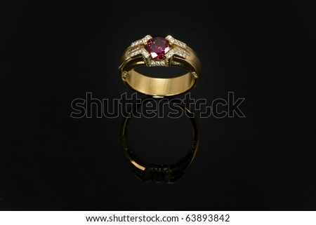 Ruby ring - stock photo