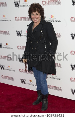 Ruby Wax arriving for the Press Night of Cantina at Jubilee Gardens in London. 21/05/2012  Picture by: Simon Burchell / Featureflash - stock photo