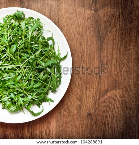 Ruccola salad - stock photo