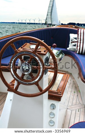 rudder at weekend yacht - stock photo