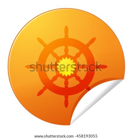 rudder icon - stock photo