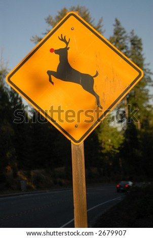 Rudolph Sign - stock photo