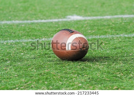 Rugby/(American football) ball.