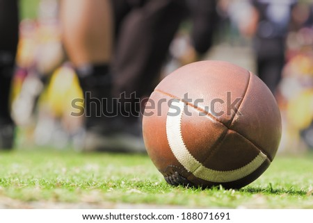 Rugby ball. - stock photo
