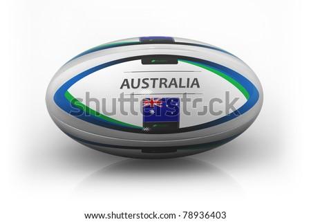 Rugby Ball  Australia - stock photo