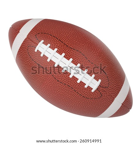 Rugby ball isolated on white background. 3d illustration high resolution - stock photo