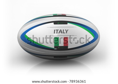 Rugby Ball  Italy - stock photo