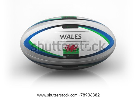 Rugby Ball  Wales - stock photo