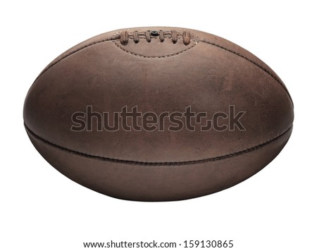 Rugby Ball White - stock photo