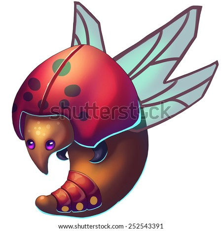 Rugby Bug - Creature Design - stock photo
