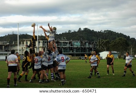 rugby game - stock photo