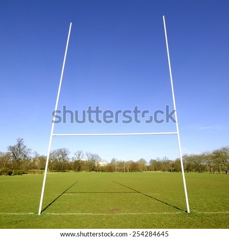Rugby goal - stock photo