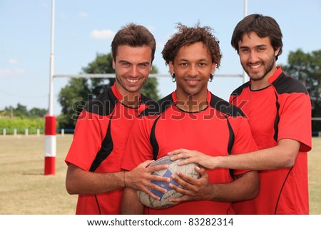 Rugby players - stock photo