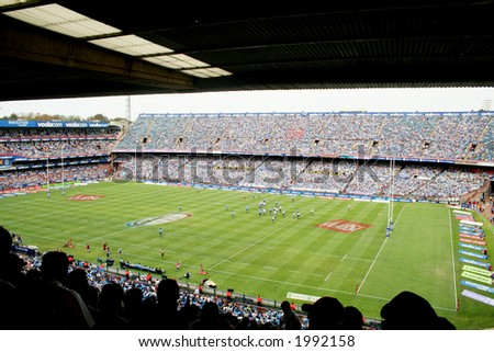 Rugby stadium - stock photo