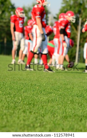 rugby team - stock photo
