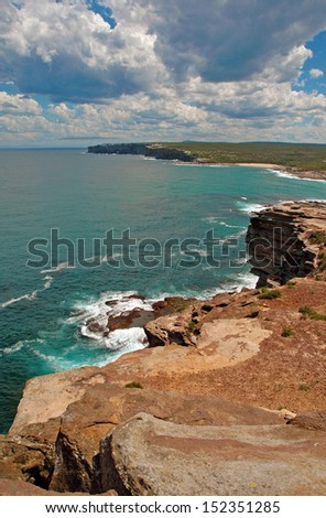 Rugged Coast of Australia - stock photo