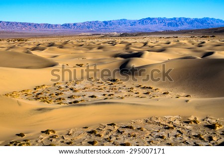 Rugged Dunes at Death Valley - stock photo