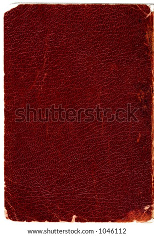 Rugged leather book cover. Hi-res scanned & optimized. - stock photo