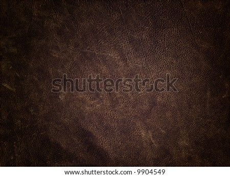 Rugged leather texture from a jacket. - stock photo