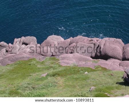 Rugged Newfoundland coast.  Canada. - stock photo