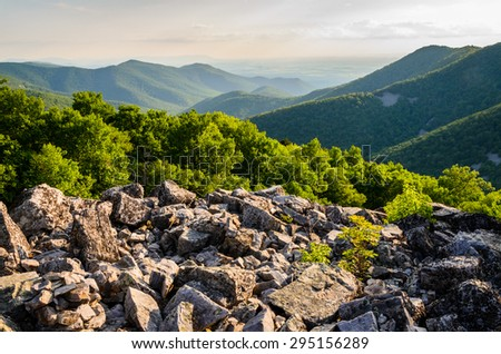 Rugged Overlook at Shenandoah National Park - stock photo