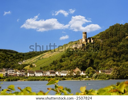Ruin Fuerstenberg, Rheindiebach, Germany - stock photo