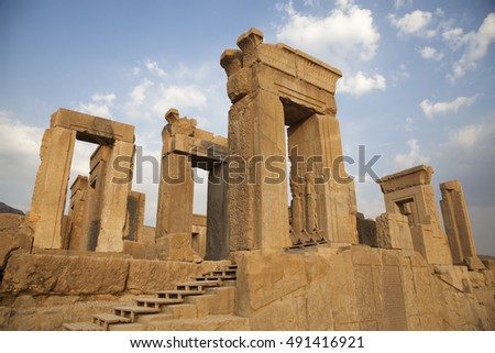 Ruin of ancient capital persepolis in Iran.