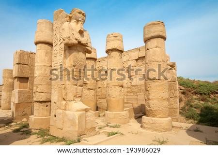 Ruin of Karnak Temple. Luxor, Egypt, Africa - stock photo