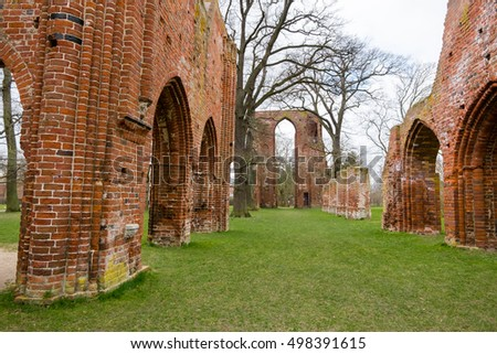 Ruin of the monastery Eldena. Greifswald