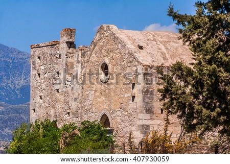 ruin on Crete, Greece - stock photo