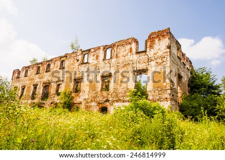 Ruined Building  - stock photo