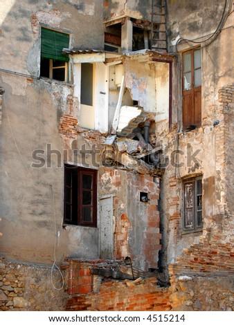 Ruined house - stock photo