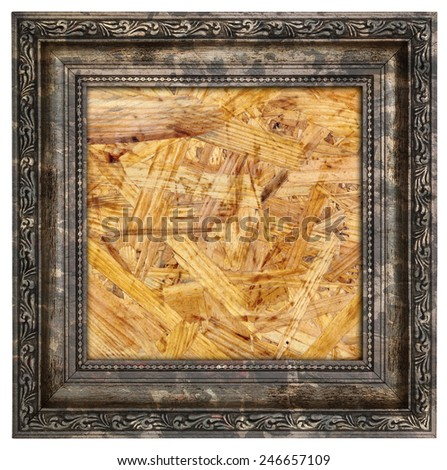 Ruined wooden frame isolated on white  - stock photo