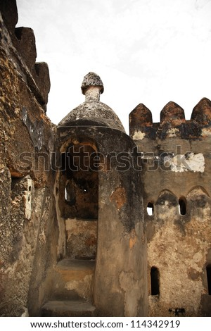 Ruins at Fort Jesus, Mombasa Kenya Africa - stock photo