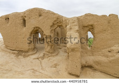 Ruins at the ancient city of antiquity, Merv, Turkmenistan