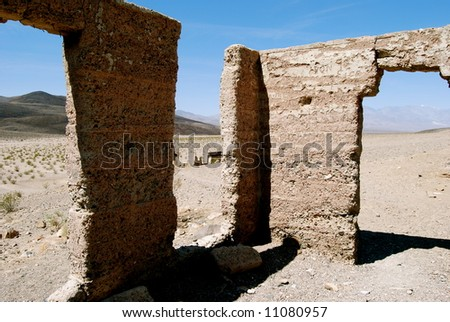 Ruins, Death Valley - stock photo