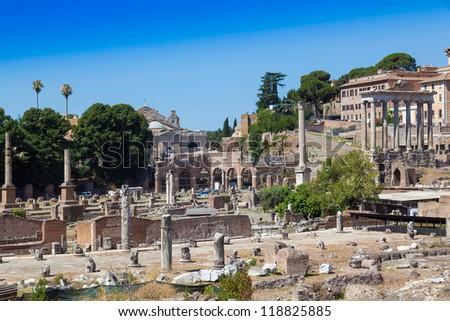 Ruins  Foro Romano, Rome, Italy - stock photo