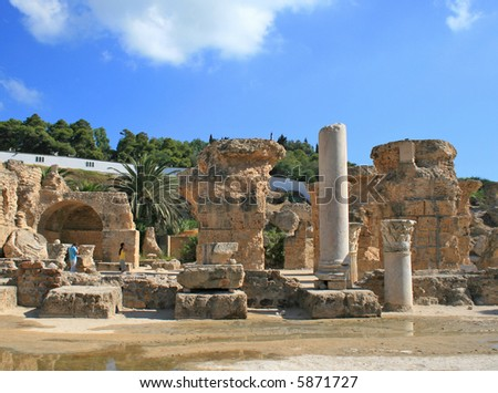 Ruins in Cartage - stock photo