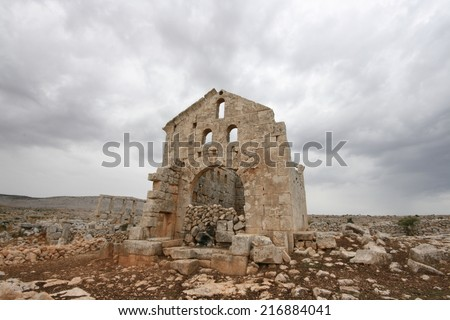 Ruins in Syria - stock photo