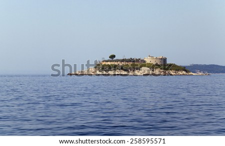 Ruins of a fortress located in Montenegro. - stock photo