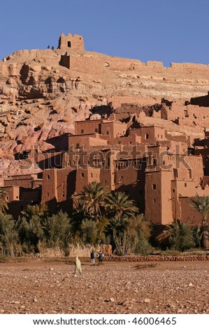 Ruins of Ait Ben Haddou in Morocco - stock photo