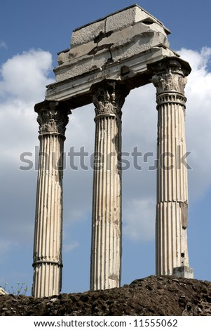 Ruins of an ancient Roman forum - stock photo