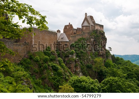 Ruins of ancient castle Aggstein in Austria - stock photo