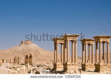 Ruins of ancient city of Palmyra - Syria (Before Civil War)