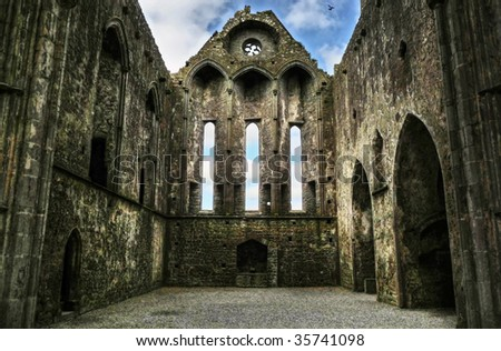 Ruins of Cashel - stock photo