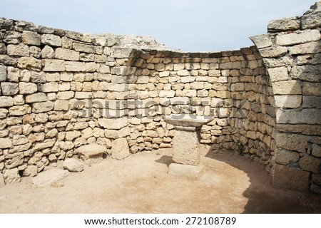 ruins of Chersonese, Sevastopol, Crimea, Ukraine. (about 64-63 years. BC)  - stock photo