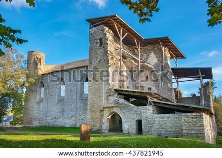 Ruins of Cistercian Monastery in Padise. Estonia, Europe - stock photo
